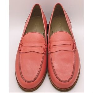 J. Crew Salmon Color Loafers Sz 9
